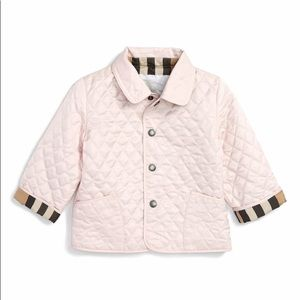 Burberry • Baby Colin Quilted Jacket Pink 2Y
